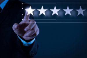 Bewertungen für einen Test mit 5 Sternen
