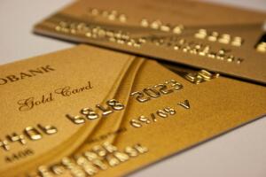 goldene Kreditkarten