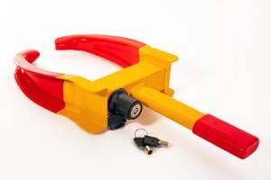 Beispiel einer Radkralle mit Schlüssel