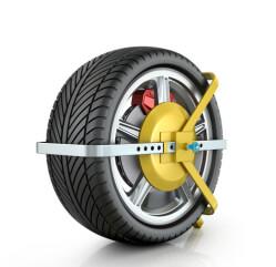 Parkkralle um einen Reifen